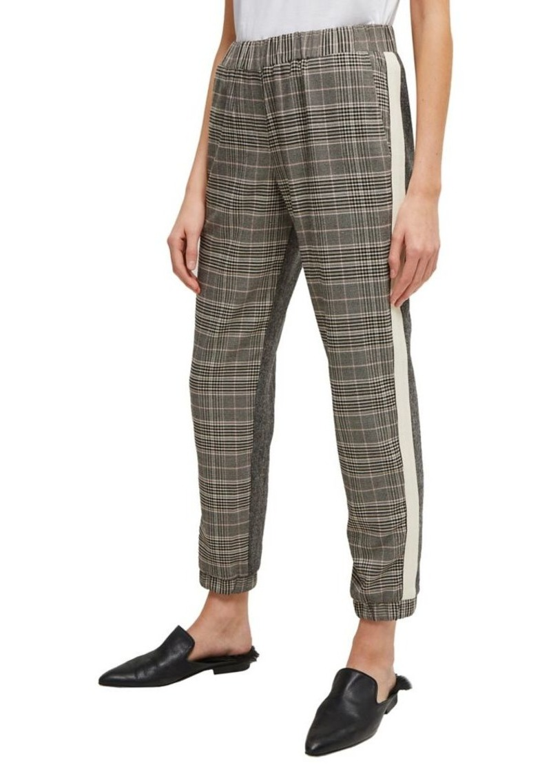French Connection Pull-On Side-Stripe Checkered Pants