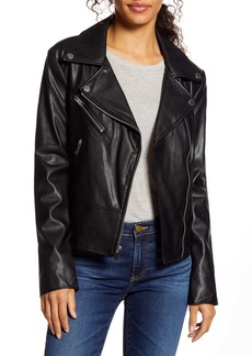 French Connection Quilted Faux Leather Moto Jacket