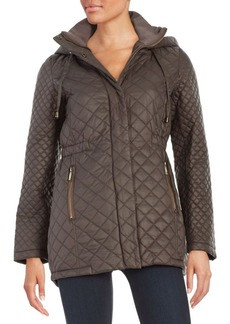 French Connection Quilted Zip-Front Jacket
