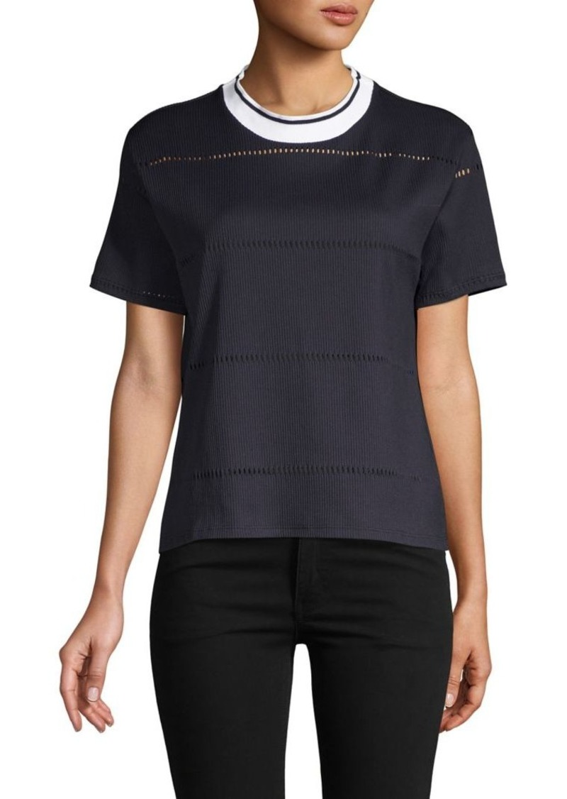 French Connection Rayna Ladder-Knit Jersey Top