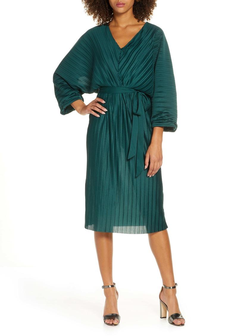 French Connection Regi Dolman Sleeve Plissé Dress