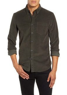 French Connection Slim Fit Button-Up Corduroy Shirt
