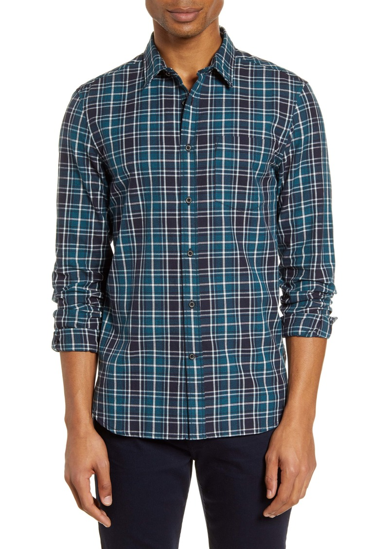 French Connection Regular Fit Forest Plaid Button-Up Shirt