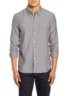 French Connection Regular Fit Herringbone Button-Up Shirt