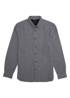 French Connection Regular Fit Mélange Button-Up Flannel Shirt