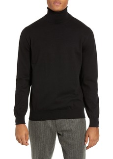 French Connection Regular Fit Stretch Cotton Turtleneck