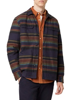 French Connection Regular Fit Stripe Shirt Jacket
