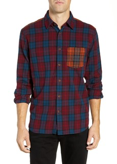 French Connection Regular Fit Tartan Flannel Sport Shirt