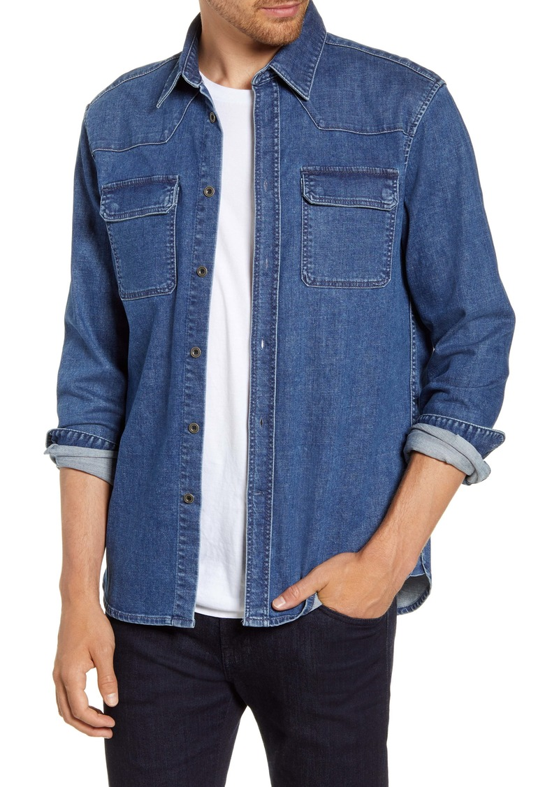 French Connection Western Button-Up Denim Shirt
