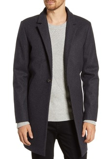 French Connection Regular Fit Wool Blend Coat