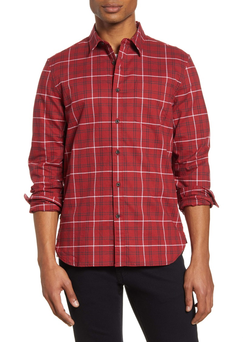 French Connection Regular Fit Workwear Plaid Button-Up Shirt