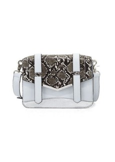 French Connection Remy Snake-Embossed Crossbody Bag