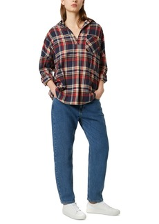 French Connection Rhodes Cotton Flannel Plaid Shirt
