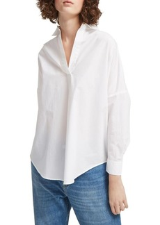 French Connection Rhodes Oversized Poplin Cotton Top