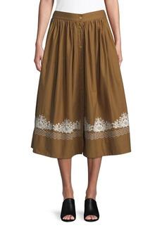 French Connection Rhodes Poplin Midi Skirt