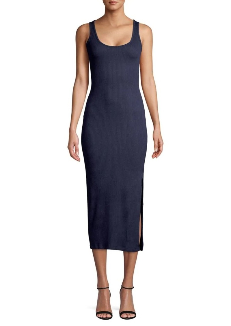 French Connection Ribbed Midi Sheath Dress