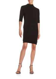 FRENCH CONNECTION Ribbed Mockneck Shift Dress