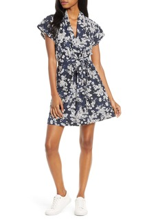 French Connection Rishiri Floral Print Faux Wrap Dress