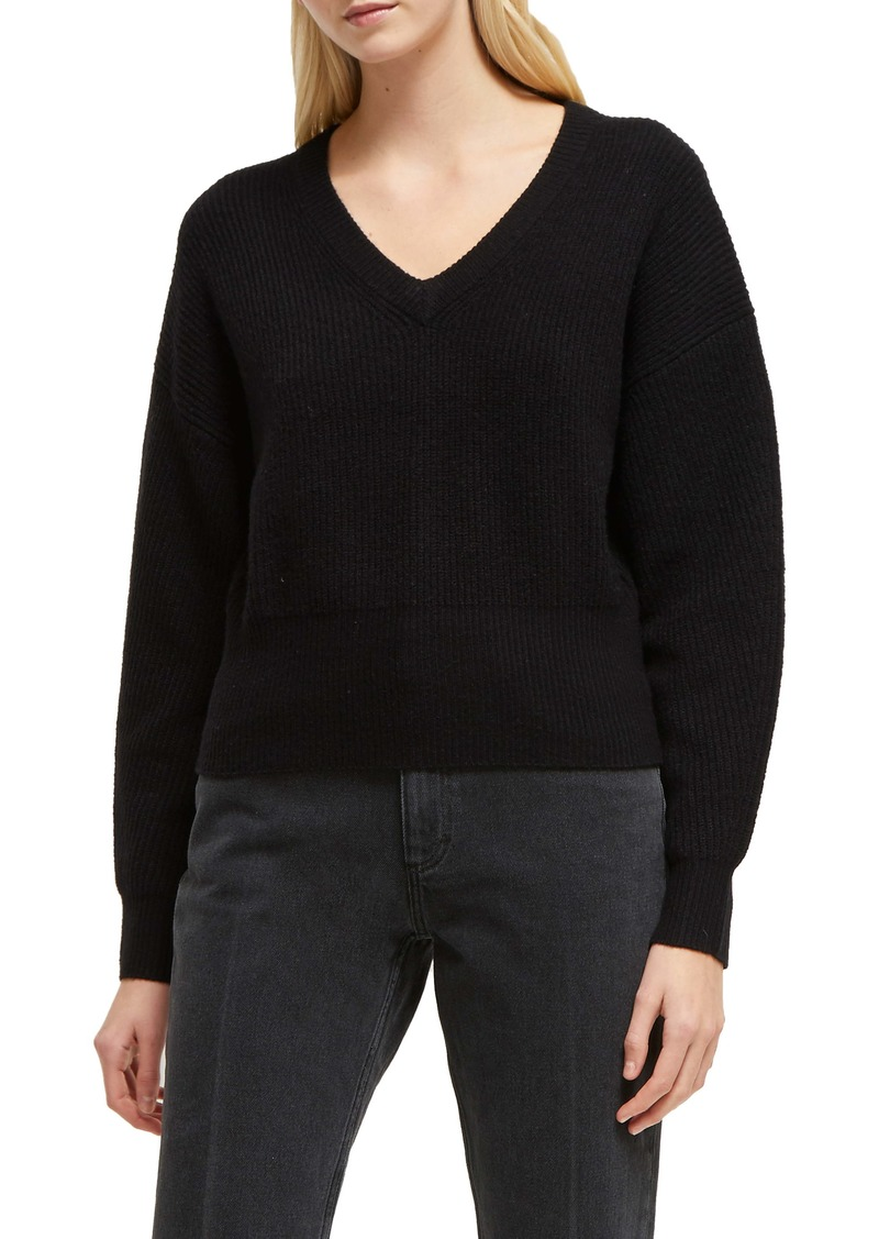 French Connection River Ribbed V-Neck Sweater