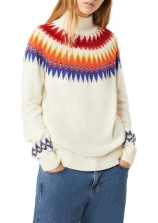 French Connection River Vhari Colorblock Turtleneck Sweater