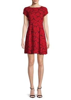 Rosalind Drape Fit-&-Flare Dress