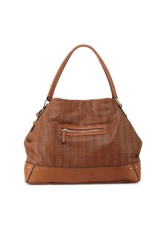 French Connection Rose Laser-Cut Domed Tote Bag