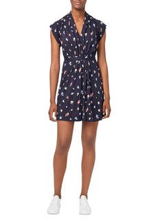 FRENCH CONNECTION Roseau Shirred Floral Mini Dress