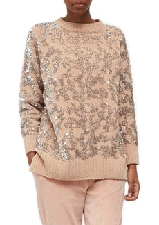 French Connection Rosemary Sequin Knit Sweater