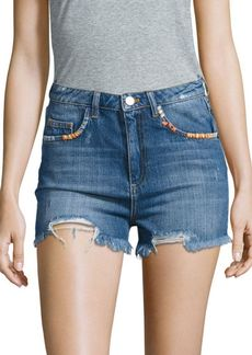 French Connection Rufaro Distressed Shorts