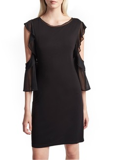 French Connection Ruffle Mix Jersey Dress