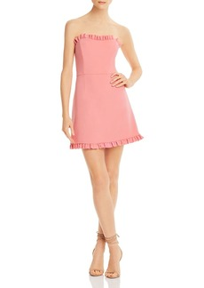 FRENCH CONNECTION Whisper Ruffle-Trim Sweetheart Dress