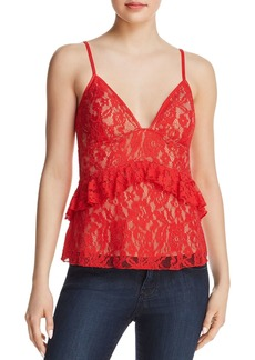 FRENCH CONNECTION Ruffled Lace Top