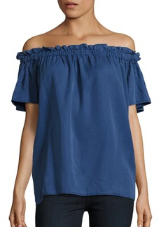 French Connection Ruffled Off-The-Shoulder Top