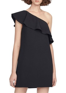 French Connection Ruffled One-Shoulder Dress