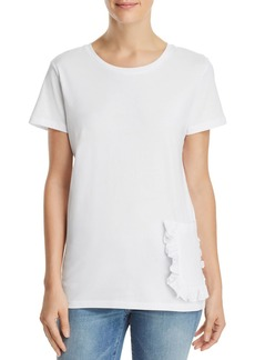 FRENCH CONNECTION Ruffled-Pocket Tee