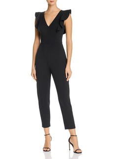 FRENCH CONNECTION Ruffled V-Neck Jumpsuit