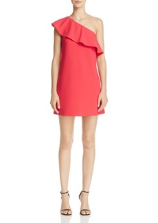 FRENCH CONNECTION Ruth One-Shoulder Ruffle Dress - 100% Exclusive