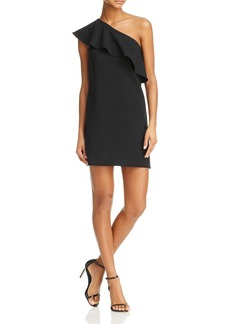 FRENCH CONNECTION Ruth One-Shoulder Ruffle Dress