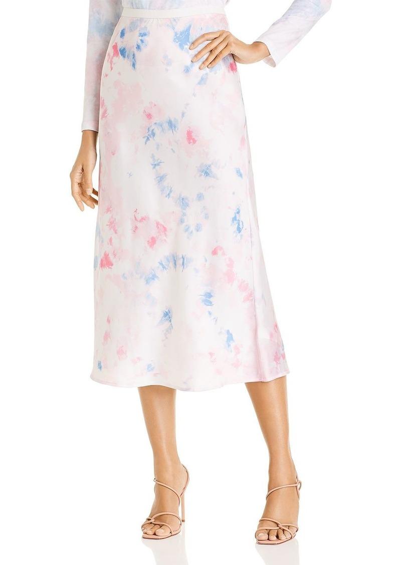 FRENCH CONNECTION Sadie Tie-Dyed Print Midi Skirt