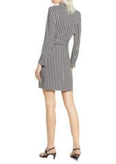 French Connection Sadira Houndstooth Check Long Sleeve Dress