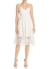 FRENCH CONNECTION Salerno Crocheted-Hem Jersey Dress
