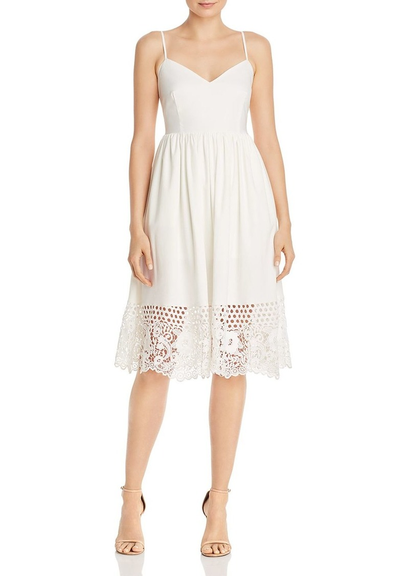 FRENCH CONNECTION Salerno Crocheted-Hem Jersey Dress