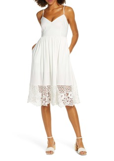 French Connection Salerno Lace Border Sundress