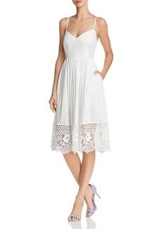 FRENCH CONNECTION Salerno Lace-Hem Dress