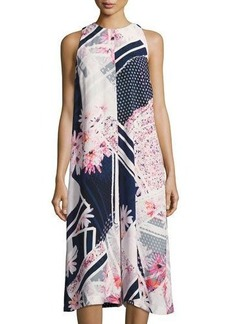 French Connection Samba Avenue Floral-Print Draped Jumpsuit