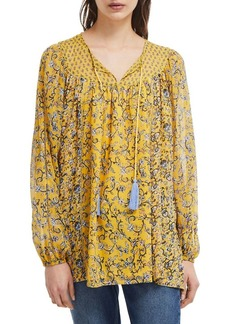 French Connection Savanna Sheer Printed Blouse