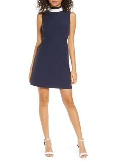 French Connection Savos Sudan Textured Mock Neck Dress