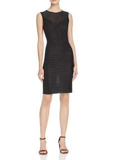 FRENCH CONNECTION Score Mesh Stripe Dress