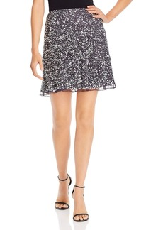 FRENCH CONNECTION Sequin-Embellished A-Line Mini Skirt