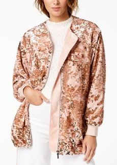 French Connection Sequined Zip Jacket